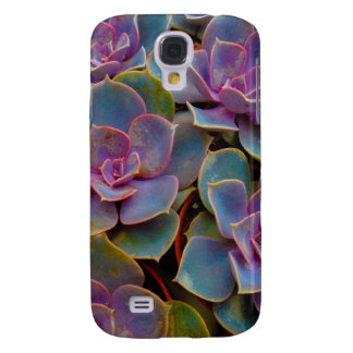 Purple Blue Green Succulent Cactus Plant Samsung Galaxy S4 Cover