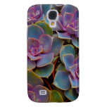 Purple Blue Green Succulent Cactus Plant Galaxy S4 Cover