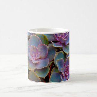 Purple Blue Green Succulent Cactus Plant Coffee Mug