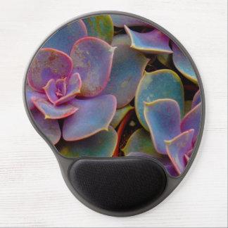 Purple Blue Green Succulent Cactus Plant Gel Mouse Pad