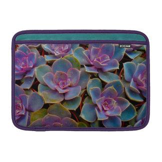 Purple Blue Green Succulent Cactus Plant Sleeve For MacBook Air