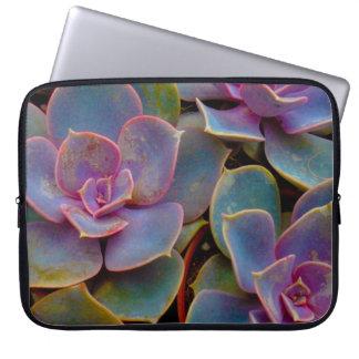 Purple Blue Green Succulent Cactus Plant Laptop Sleeve