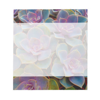 Purple Blue Green Succulent Cactus Plant Notepad
