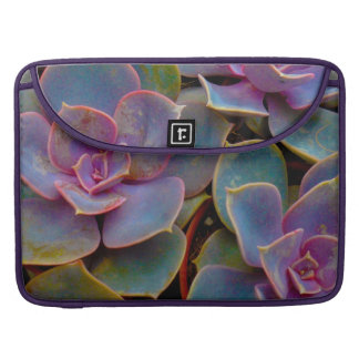 Purple Blue Green Succulent Cactus Plant Sleeve For MacBooks
