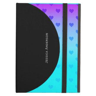 Purple Blue Hearts  :Powis iCase iPad Case
