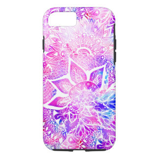 Purple blue henna boho floral mandala pattern iPhone 7 case