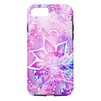 Purple blue henna boho floral mandala pattern iPhone 7 case