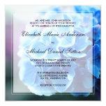 Purple Blue Hydrangea Wedding 5.25x5.25 Square Paper Invitation Card