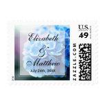 Purple Blue Hydrangea Wedding Postage