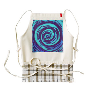 Purple & Blue Hypnotic Swirl Art Zazzle HEART Apron