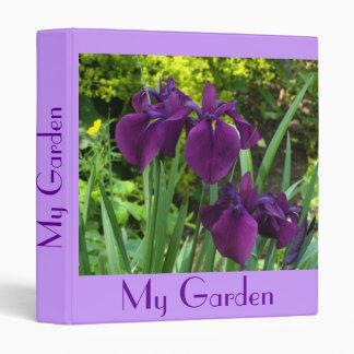 """""""Purple Blue Irises"""" Garden Planner/Album 3 Ring Binder"""