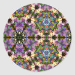 Purple/Blue Kaleidoscope Triangle Psychedelic Snap Classic Round Sticker