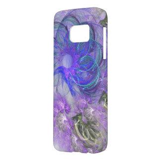 Purple & Blue Lacy Flower Fractal Design Samsung Galaxy S7 Case