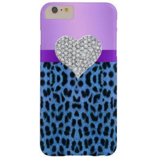 Purple Blue Leopard Print Heart iPhone 6 Case