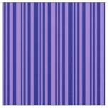 [ Thumbnail: Purple & Blue Lined Pattern Fabric ]
