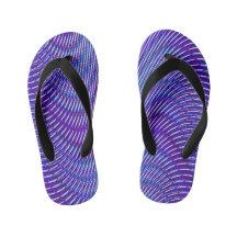 Tie Dye Flip Flops Psychedelic Flip-Flops Sandals Fantasy Clothing Festival Shoes Mind Trip Trippy Groovy Hippie