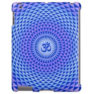 Purple Blue Lotus flower meditation wheel OM