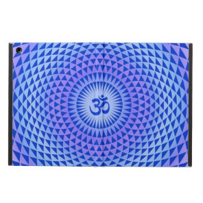 Purple Blue Lotus flower meditation wheel OM Case For iPad Air