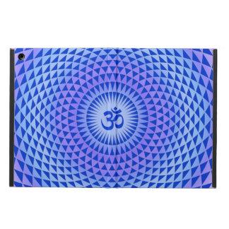 Purple Blue Lotus flower meditation wheel OM Case For iPad Air