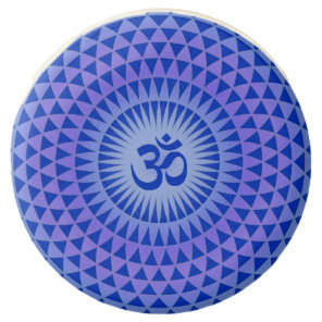 Purple Blue Lotus flower meditation wheel OM Chocolate Dipped Oreo