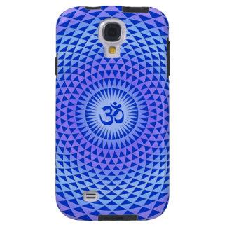 Purple Blue Lotus flower meditation wheel OM Galaxy S4 Case