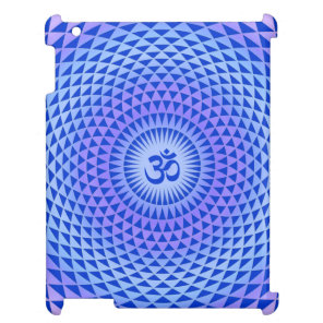 Purple Blue Lotus flower meditation wheel OM iPad Covers