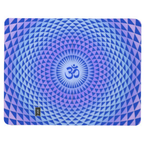 Purple Blue Lotus flower meditation wheel OM Journal