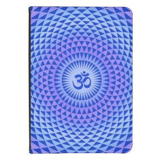 Purple Blue Lotus flower meditation wheel OM Kindle Case