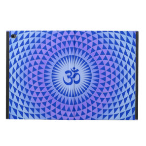 Purple Blue Lotus flower meditation wheel OM Powis iPad Air 2 Case