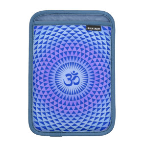 Purple Blue Lotus flower meditation wheel OM Sleeve For iPad Mini