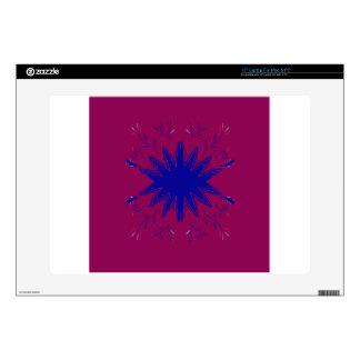 "Purple blue mandala decals for 15"" laptops"