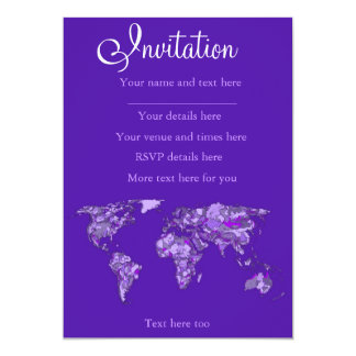 Purple blue map card