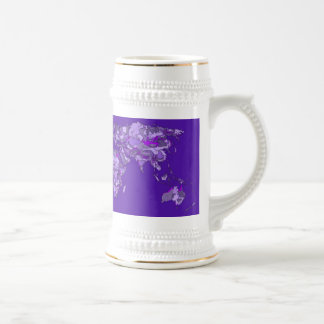 Purple blue map coffee mugs