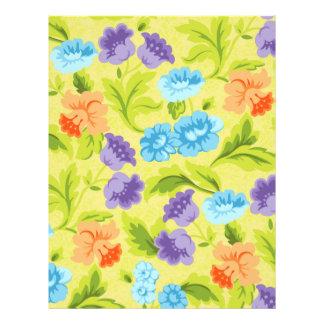 Purple Blue & Orange Springtime Flowers Flyer