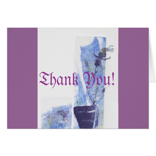 Purple Blue Orchid Card
