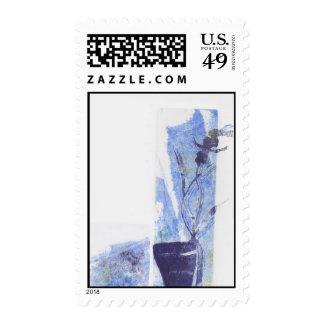 Purple Blue Orchid Postage Stamp