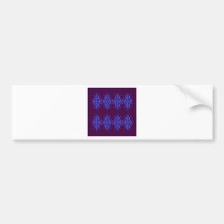 Purple blue ornaments bumper sticker