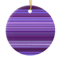 Purple Blue Pink Striped Pattern Ceramic Ornament