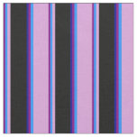 [ Thumbnail: Purple, Blue, Plum, Black & Dark Blue Pattern Fabric ]