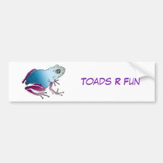 Purple & Blue Poison Dart Frog Bumper Sticker