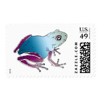 Purple & Blue Poison Dart Frog Postage