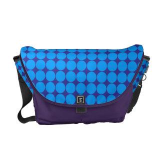 Purple Blue Polka Dots Rickshaw Messenger Bag