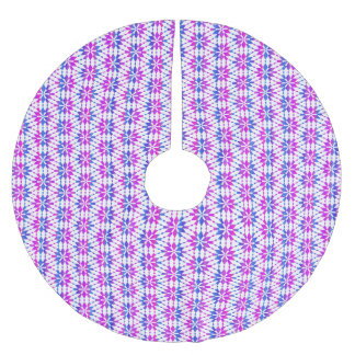 Purple Blue Retro Pattern Brushed Polyester Tree Skirt