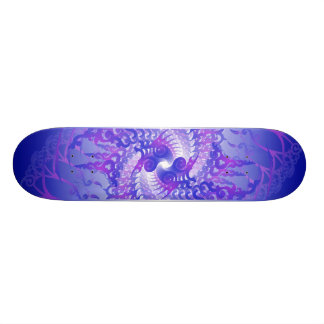 Purple Blue Spirals Skateboard