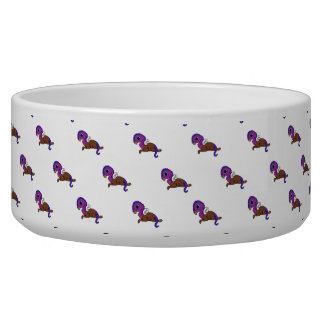 Purple & Blue Squite Pocket Gryphon Laying down Bowl