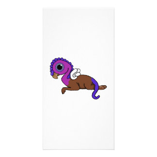 Purple & Blue Squite Pocket Gryphon Laying down Card