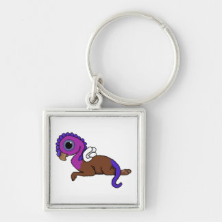 Purple & Blue Squite Pocket Gryphon Laying down Keychain