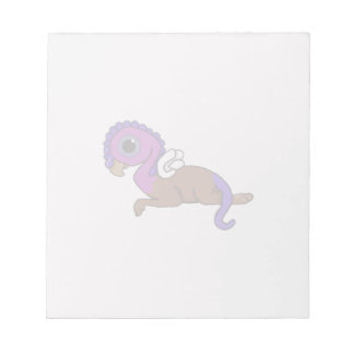 Purple & Blue Squite Pocket Gryphon Laying down Notepad