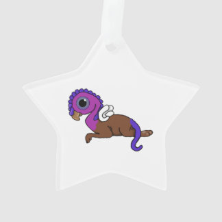 Purple & Blue Squite Pocket Gryphon Laying down Ornament