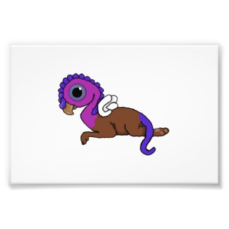 Purple & Blue Squite Pocket Gryphon Laying down Photo Print